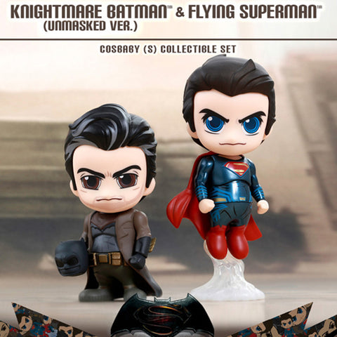 Batman v Superman Cosbaby - Knightmare Batman Unmasked and Flying Superman