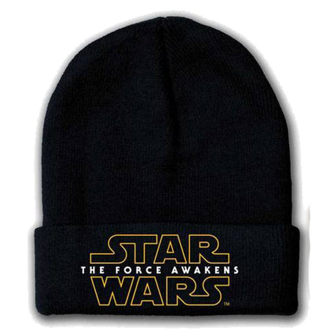 Star Wars VII The Force Awakens Logo Beanie Black