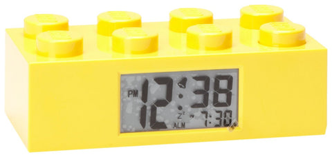 Lego Kids Yellow Brick Clock