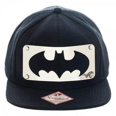 Batman Silver Logo Cap Black