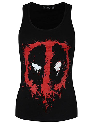 Deadpool Splatter Logo Girls Top