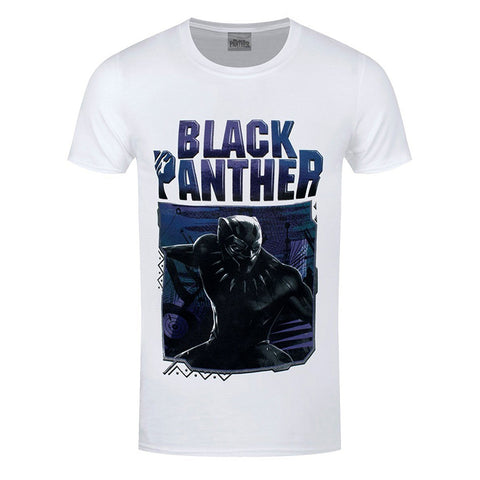Black Panther Movie White Logo T-Shirt