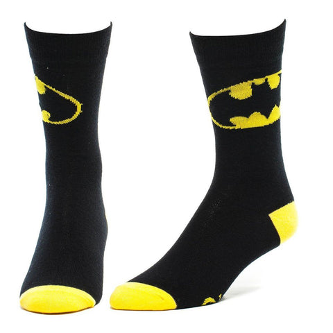 Batman 39/42 Batman Logo Black Crew Socks