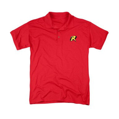 Batman Embroidered Robin Patch Polo T-Shirt