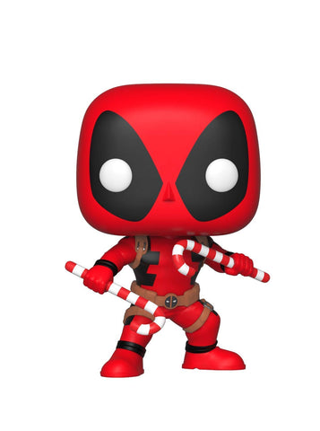 Funko POP! Marvel: Holiday - Deadpool with Candy Canes Figure