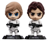 Cosbaby Star Wars: Episode IV A New Hope Skywalker And Han Solo Vinyl Figure