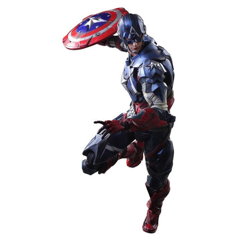 Marvel Universe Play Arts Kai Captain America Action Figure