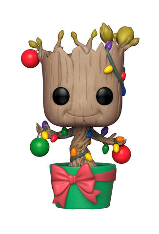 Funko POP! Marvel: Holiday, Guardians of The Galaxy - Groot Figure