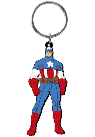 Captain America Soft Touch Keychain