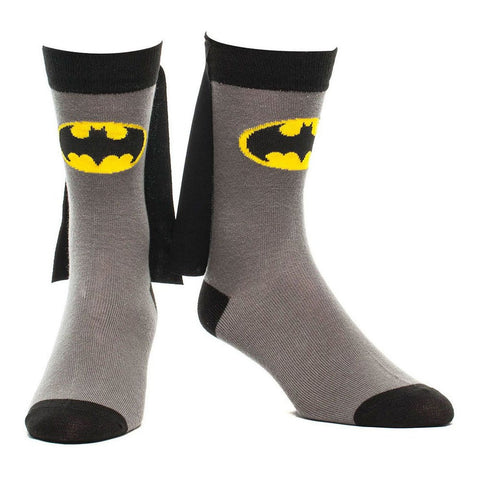 Batman 39/42 Grey Caped Crew Socks