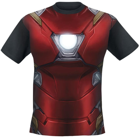 Captain America Civil War Black IronMan Costume Tees