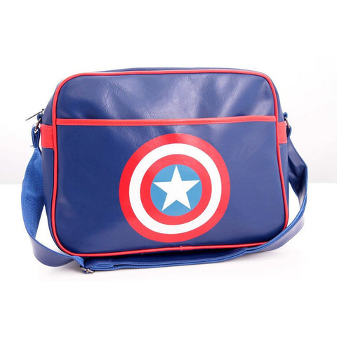 Captain America Shield Messenger Bag Navy