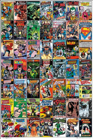 DC Comics Comic Covers Poster
