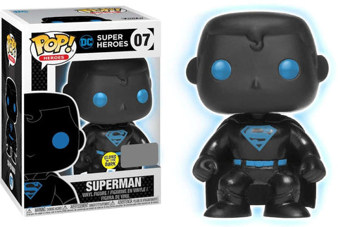 Funko POP Justice League Superman Silhouette Glow In The Dark Vinyl Figure