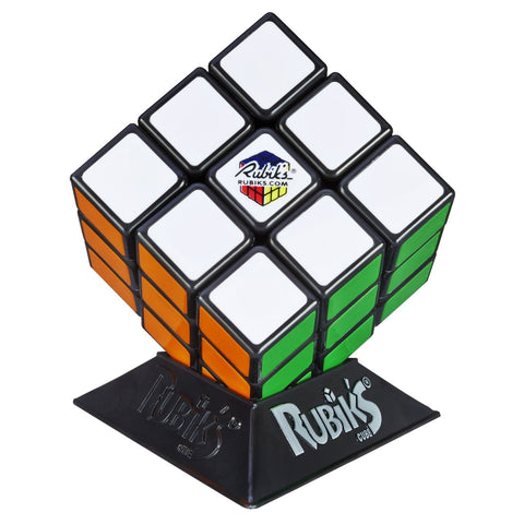 Hasbro Gaming Rubik's 3X3 Cube with Display Stand