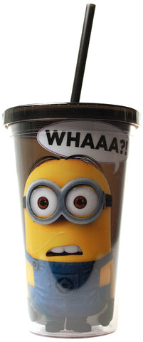 Despicable Me What Cold Cup With Lid and Straw