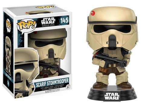 Pop Star Wars  Rogue One Scarif Stormtrooper Bobble Vinyl Figure