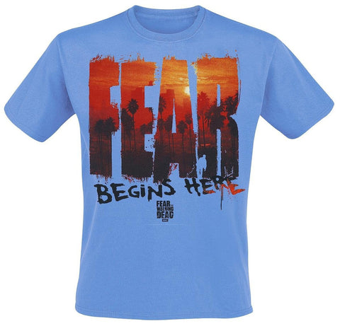 Fear The Walking Dead LA Skyline Men Blue