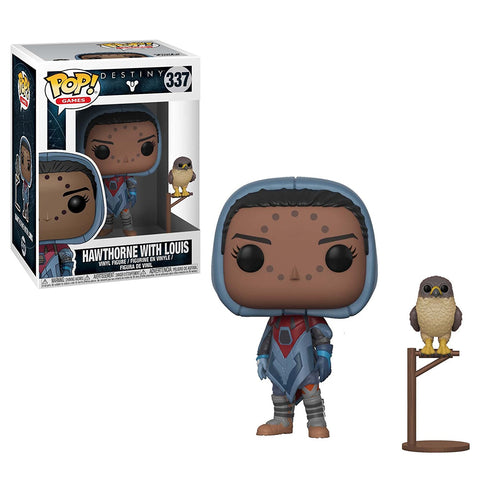 Funko POP Destiny Hawthorne WithHawk Vinyl Figure