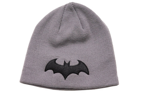 Batman Black 3D Logo Beanie Grey