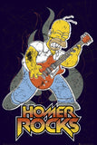 The Simpsons Homer Rocks Poster