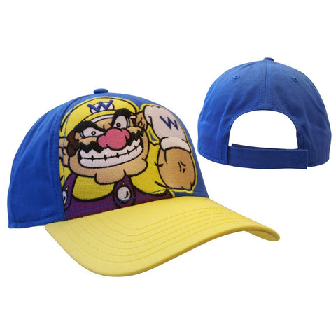 Nintendo Blue Wario Black Adjustable Cap