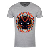 Black Panther Logo in Circle Gray T-Shirt