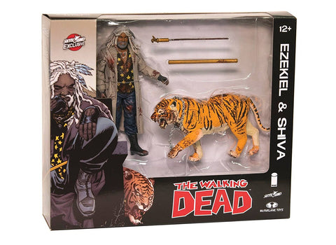 The Walking Dead Comic Ezekiel & Shiva 2 Pack Figure