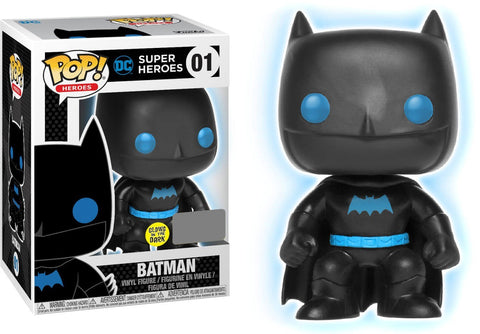 Funko POP Justice League Batman Silhouette Glow In The Dark Vinyl Figure