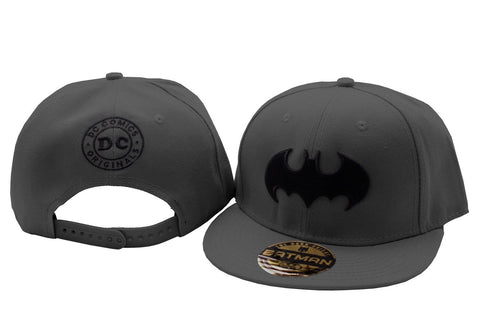 Batman Black Logo Cap Grey