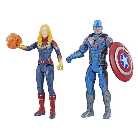 Marvel: Avengers Endgame Captain America & Captain Marvel 2 Pack