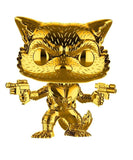 Funko POP! Marvel Studios - 10th Anniversary Exclusive Rocket Raccoon Gold Chrome Vinyl Figure