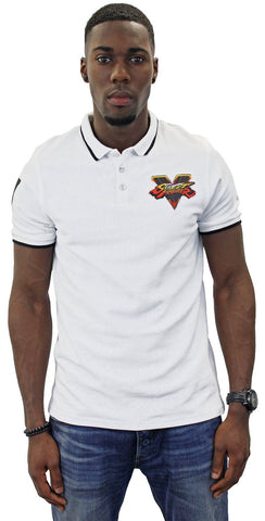 Street Fighter V White Polo Shirt