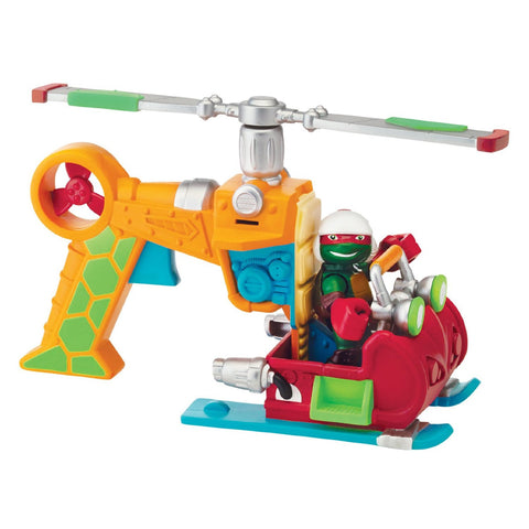 TMNT Half Shell Drop Copter With Raphael Vehicle Figure