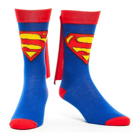 Superman 39/42 Blue Caped Crew Socks