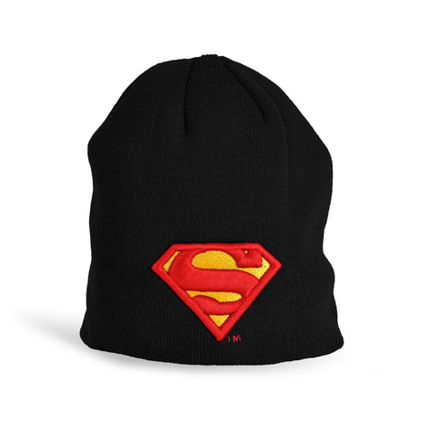 Superman Black 3D Logo Beanie Black/Red