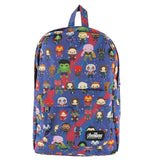 Loungefly Avengers Chibi Print Nylon Backpack