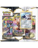 Pokemon Trading Card Game Sword & Shield-Rebel Clash Three-Booster Blister
