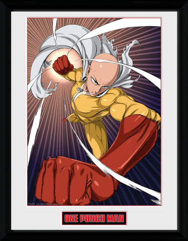 One Punch Man Speed Punch Framed Portrait