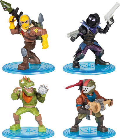 Fortnite Battle Royal Collection Figure Squad Pack Raptor, Rust Lord, Rex, Raven