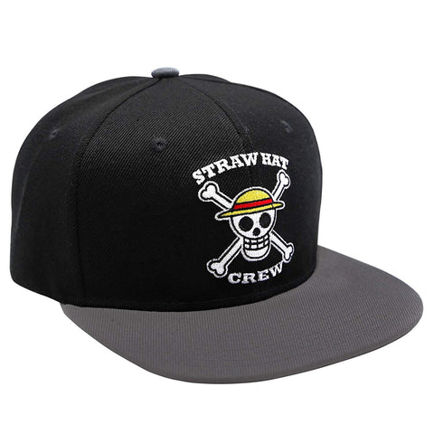 One Piece Skull Black- Grey Snapback Cap