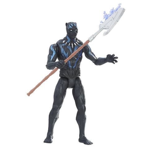 Marvel Black Panther 6-inch Vibranium Suit Black Panther Action Figure