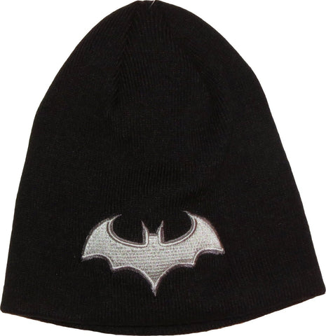 Batman Grey 3D Logo Beanie Black
