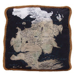 Game of Thrones Westeros North Map Pillow