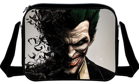 Batman Arkham Origins Joker Face Messenger Bag Multicolor