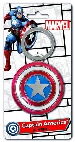 Captain America Shield Pewter Key Chain