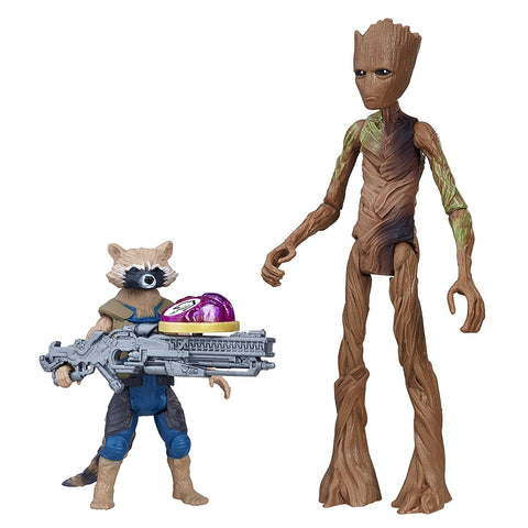Avengers: Infinity War Rocket Raccoon & Groot with Infinity Stone Action Figure