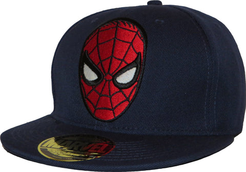 Spiderman Face Cap-Navy
