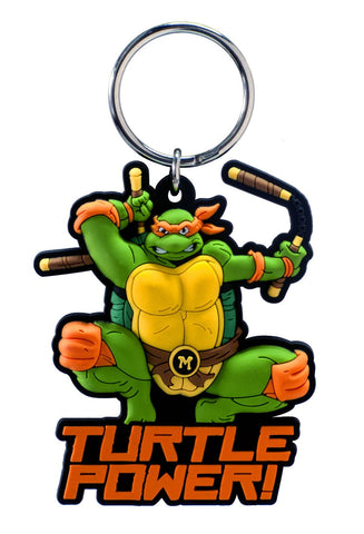TMNT Mikey Soft Touch Keychain