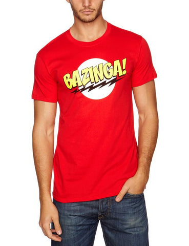 Big Bang Theory BAZINGA! Men's Red T-Shirt